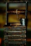 Poço de madeira velho fotografia de stock royalty free