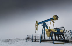 Poço de petróleo e gás de funcionamento Fotografia de Stock