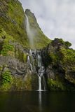 Poço do Bacalhau waterfall,  Flores island, Azores, Portugal Stock Photos