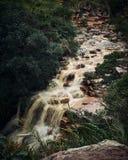 Poço do diabo waterfall, Mucugezinho river, Lençóis - Bahia, Brazil royalty free stock photography