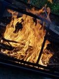 Poço do fogo no uso fotografia de stock