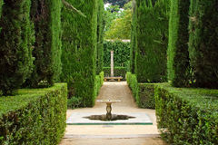 poèts de palais de jardin d'alcazar Photos stock