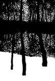 Poésie de la forêt de l'hiver Image libre de droits
