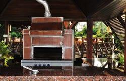 Poêle de cuisson extérieur Photographie stock