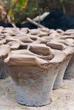Poêle thaï de BBQ de charbon de bois Images libres de droits