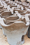 Poêle thaï de BBQ de charbon de bois Photo stock