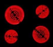 poêles rouges chauds électriques de cuiseur en céramique Photos libres de droits