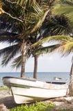 połów łódkowata kukurydzana wyspa Nicaragua Zdjęcie Stock