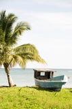 połów łódkowata kukurydzana wyspa Nicaragua stary Fotografia Stock
