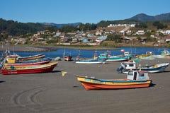 Połów flota na plaży Obrazy Stock