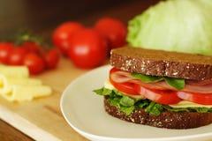 połówkę kanapki z serem Zdjęcia Royalty Free