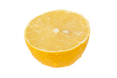 Połówka świeżej cytryny obraz stock