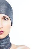 Połówka żeńska twarz Fotografia Royalty Free