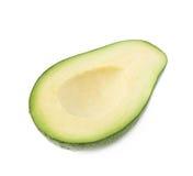 Połówka avacado owoc odizolowywająca Fotografia Stock