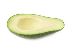 Połówka avacado owoc odizolowywająca Zdjęcia Stock