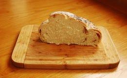 Połówka Białego zawijasa Chlebowego bochenka Obrazy Royalty Free
