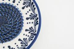 Połówka ceramicznego talerza zakończenia up Obraz Royalty Free