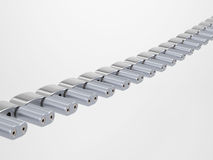 Połówka kruszcowy łańcuch Fotografia Stock