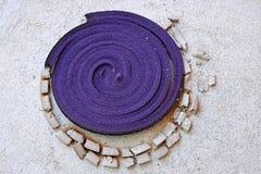 Połówka paląca komara odpędzenia kadzidła spirala Fotografia Royalty Free