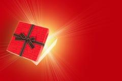 Połówka prezenta otwarty pudełko Obraz Royalty Free
