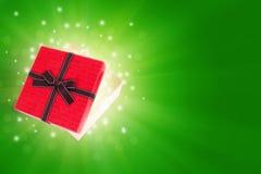 Połówka prezenta otwarty pudełko Zdjęcie Royalty Free