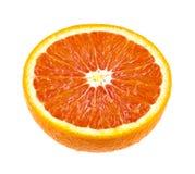 Połówka soczysta pomarańczowa owoc odizolowywająca na bielu Zdjęcie Royalty Free