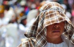 Połówka zakrywająca twarzy kobieta Fotografia Royalty Free