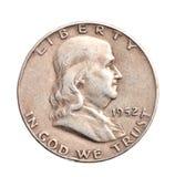 połówki antykwarski dolarowy srebro Fotografia Royalty Free