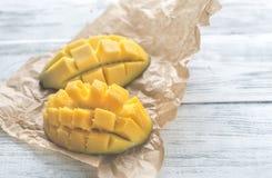 Połówki mango obrazy royalty free