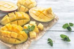 Połówki mango fotografia royalty free