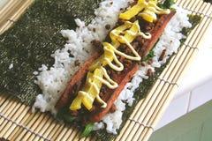 połączenie żywnościowego rolka modny ryżu Zdjęcia Stock
