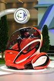 połączony w sieci en elektryczny pojazd v Obraz Stock