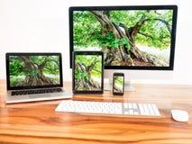 Połączony w sieci komputer fotografia stock