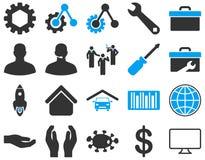 Położenia i narzędzie ikony Zdjęcia Stock