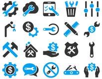 Położenia i narzędzie ikony Zdjęcie Royalty Free