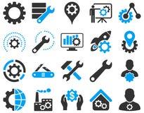 Położenia i narzędzie ikony Obrazy Stock