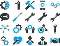 Położenia i narzędzie ikony Fotografia Royalty Free