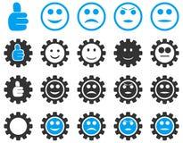 Położenia i uśmiech przekładni ikony Zdjęcie Stock