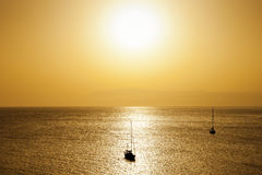 Położenia słońce Obraz Stock