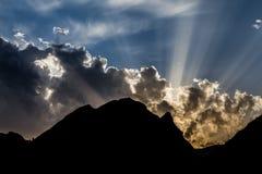 Położenia Słońce Fotografia Stock