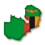 położenie bandery zambia Obraz Stock