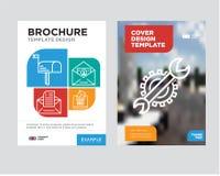 Położenie broszurki ulotki projekta szablon Obrazy Stock