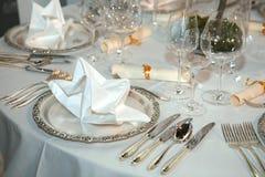 położenie elegancki stół Obraz Royalty Free