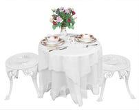 położenie romantyczny stół dwa Obrazy Stock