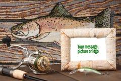 połowów campingowi wspominki zdjęcie stock