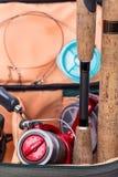 Połowów sprzętów prącia, rolka, linia i prowadzenie, obraz royalty free