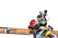 Połowów sprzętów prącia, rolki, linia, wabiją Zdjęcie Royalty Free