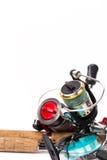 Połowów sprzętów prącia, rolki, linia, wabiją Fotografia Stock