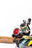 Połowów sprzętów prącia, rolki, linia, wabiją Obrazy Royalty Free