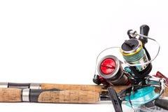 Połowów sprzętów prącia, rolki, linia, wabiją Fotografia Royalty Free